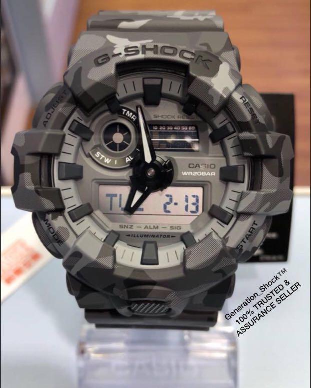 NEW🌟MILITARY GSHOCK UNISEX DiVER  SPORTS WATCH : 100% Original Authentic CASIO G-SHOCK : GA-700CM-2A / GA-700CM-3A / GA-700CM-8A / GA-700-1A SERIES