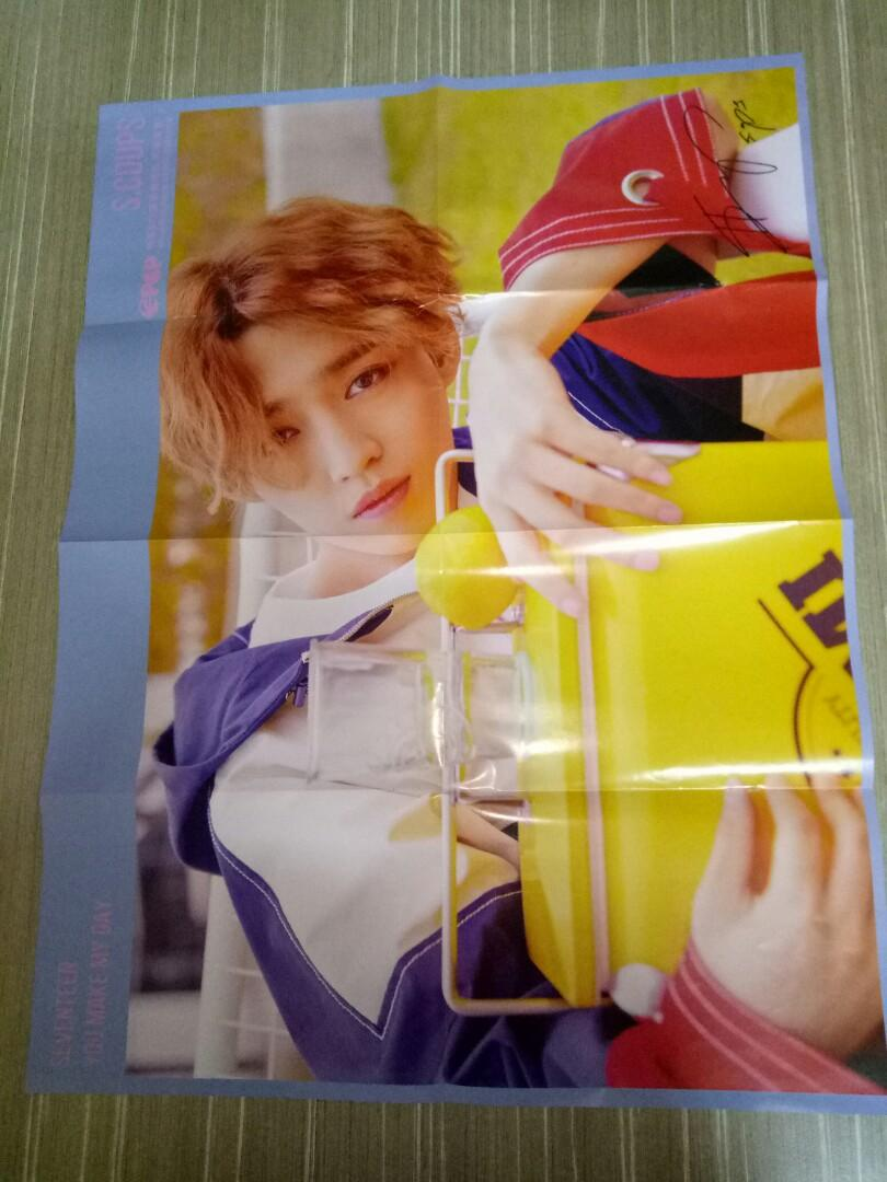 NINEPERCENT JUSTIN / SEVENTEEN S.COUPS double page poster