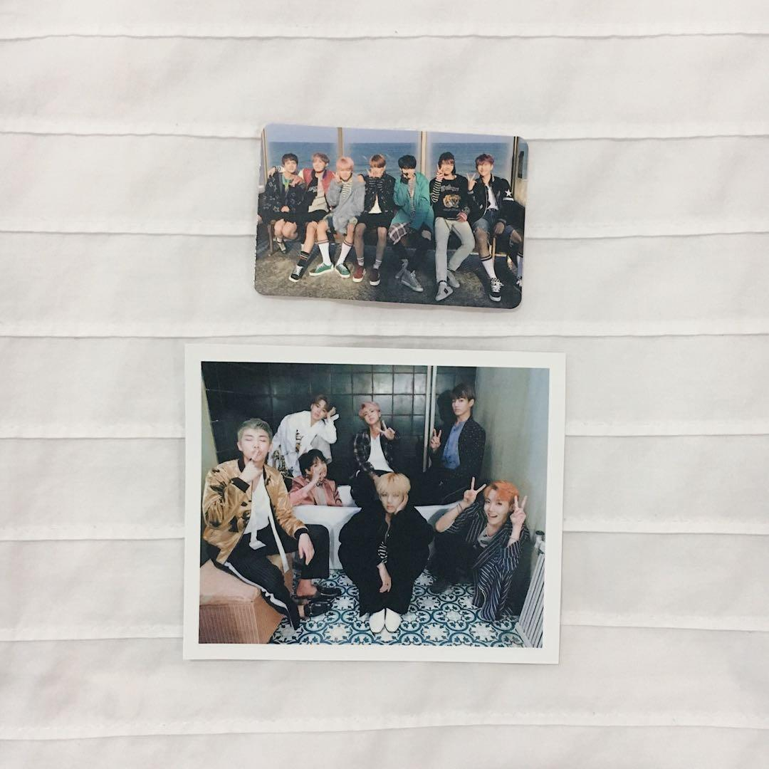 WTS [OFFICIAL PC] BTS Group photocard - YNWA and Wings