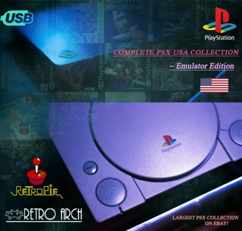 PlayStation Collection Complete USA/NTSC - 1TB Hard Drive For Retropie/PC/PSIO