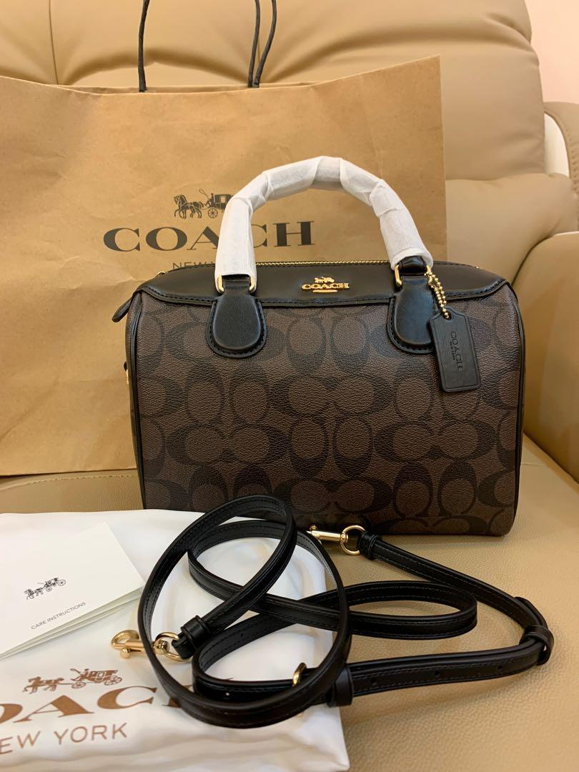 Ready Stock mini Bennett authentic coach 32203 crossbody sling bag handbag in monogram brown new in chirstmas sales