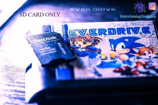 SEGA Everdrive v1 SD CARD - Complete Sega Genesis/Mega Drive Library ~ Box Art, Video Snaps & Cart Art Inlcluded