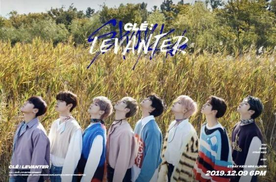 STRAY KIDS CLE1 : LEVANTER OFFICIAL FOLDED /UNFOLDED POSTER -Select Shipping Options