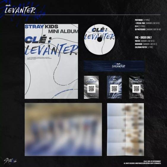 Stray Kids CLE :LEVANTER Normal Edition Sealed Album (1 Version + Pre-order Benefits Sealed On Pack)