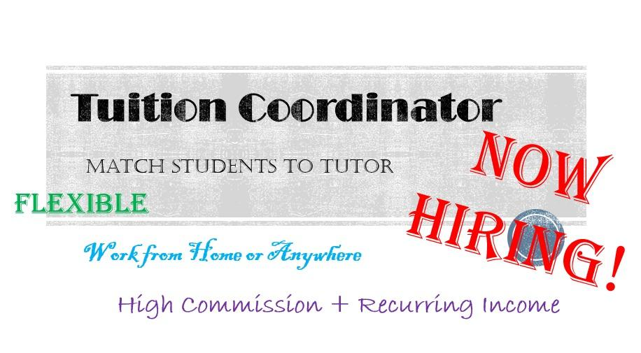 Tuition Coordinator! Flexible timing FREELANCE/PART TIME