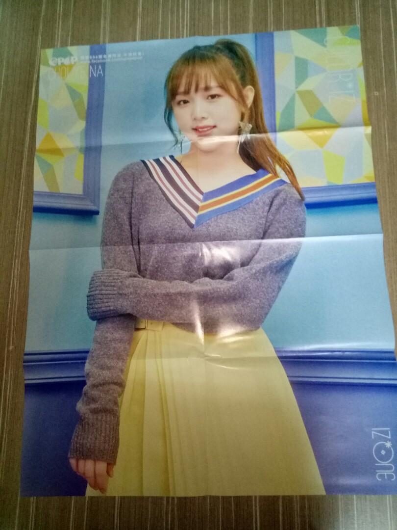 TWICE MOMO <YES OR YES> / IZ*ONE YENA double page poster