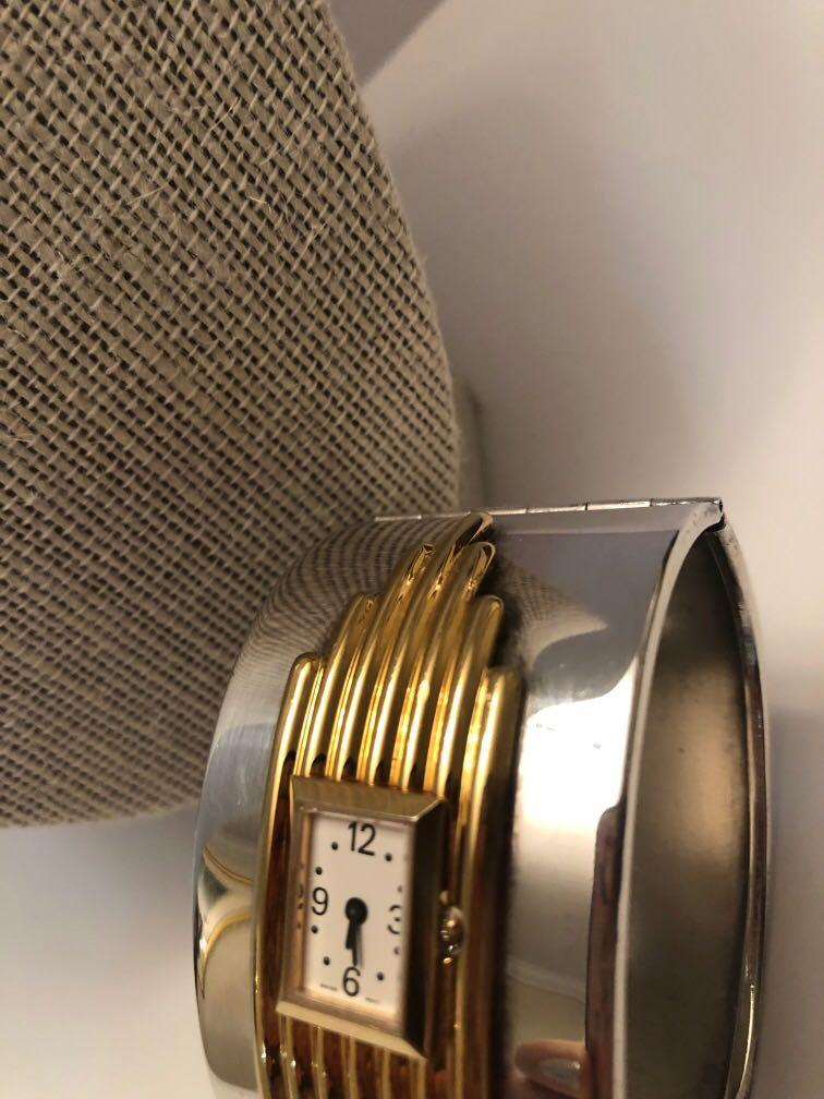 Vintage Franklin Mint Alfred Durand Art Deco gold/ silver watch