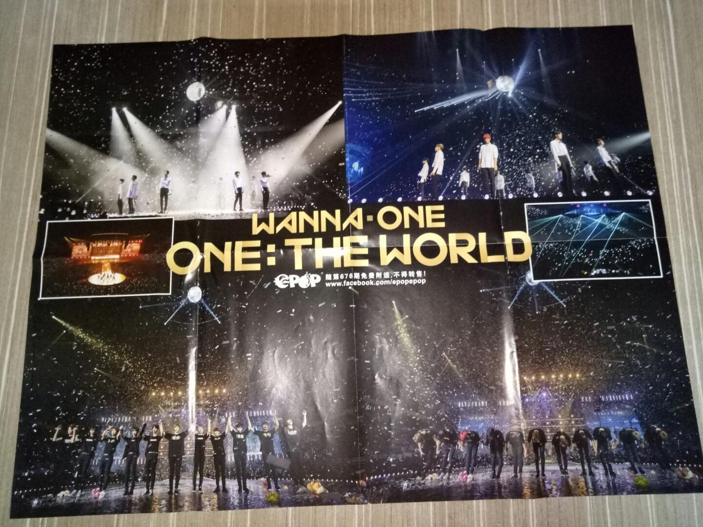 WANNA ONE <ONE: THE WORLD> / NINEPERCENT 陈立农 double page poster