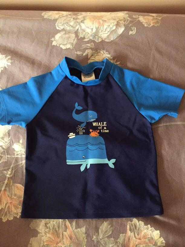 Whale of a time size 1 rash vest - new without tags