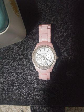 Pink Fossil Watch
