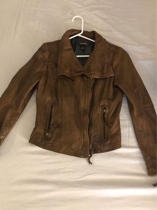 DANIER Brown Genuine Leather Jacket (XS)