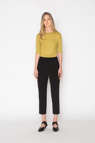 Oak + Fort Black Dress Pants