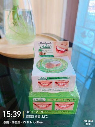 泰國ISME RASYAN 天然草本淨白牙粉 25g 送10g