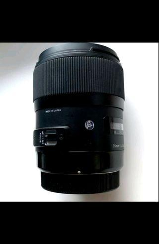 Sigma 35mm F/1.4 art DG HSM for Canon