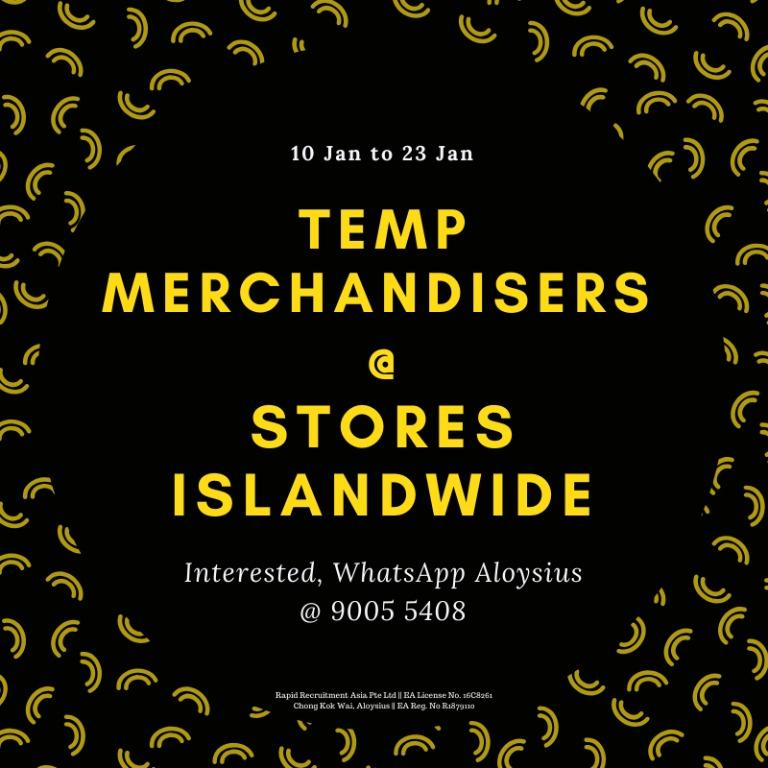40 x Temp CNY Merchandisers @ Island-wide | 10 Jan to 23 Jan