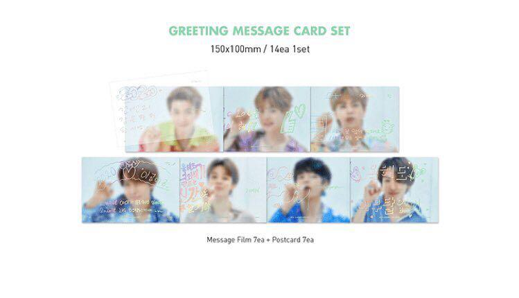 BTS 2020 SEASON'S GREETINGS GREETINGS MESSAGE CARD