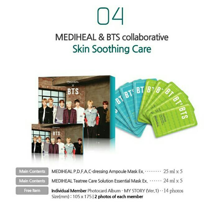 BTS X MEDIHEAL Official Authentic Special Edition Facial Mask Sheet