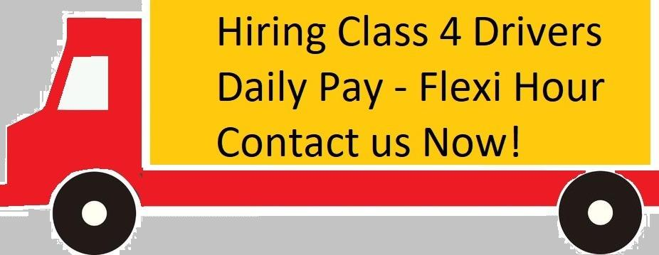 *Daily Payment* Class 4 drivers needed