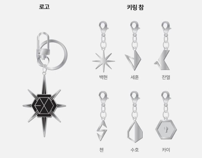 EXO EXplOration Logo + Keyring Charm (Suho) Official Merchandise
