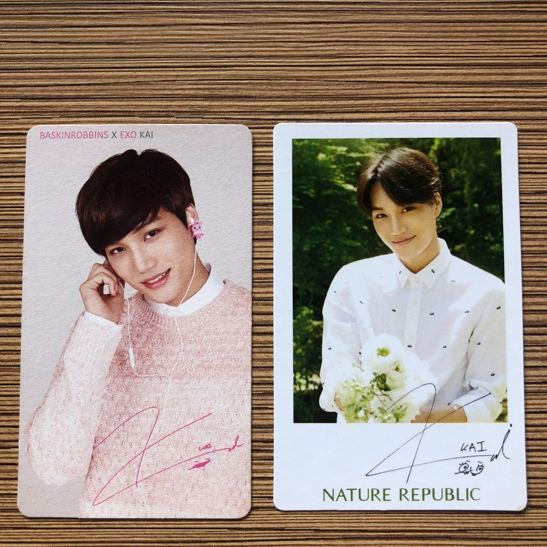Exo official photocards- sunny 10/nature republic/ baskin robbins