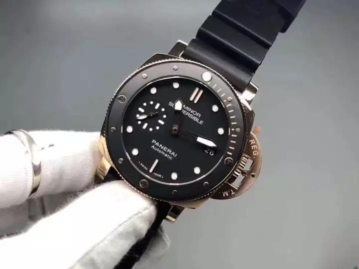 💥FREEGIFT SNEAKERS💥[PRE-ORDER] _P_A_M_684_ SUBMERSlBLE_ 1950 3 Days Rose Gold Ceramic Black Dial P9010.Swiss.Grade ( ETA 7-14 Days )