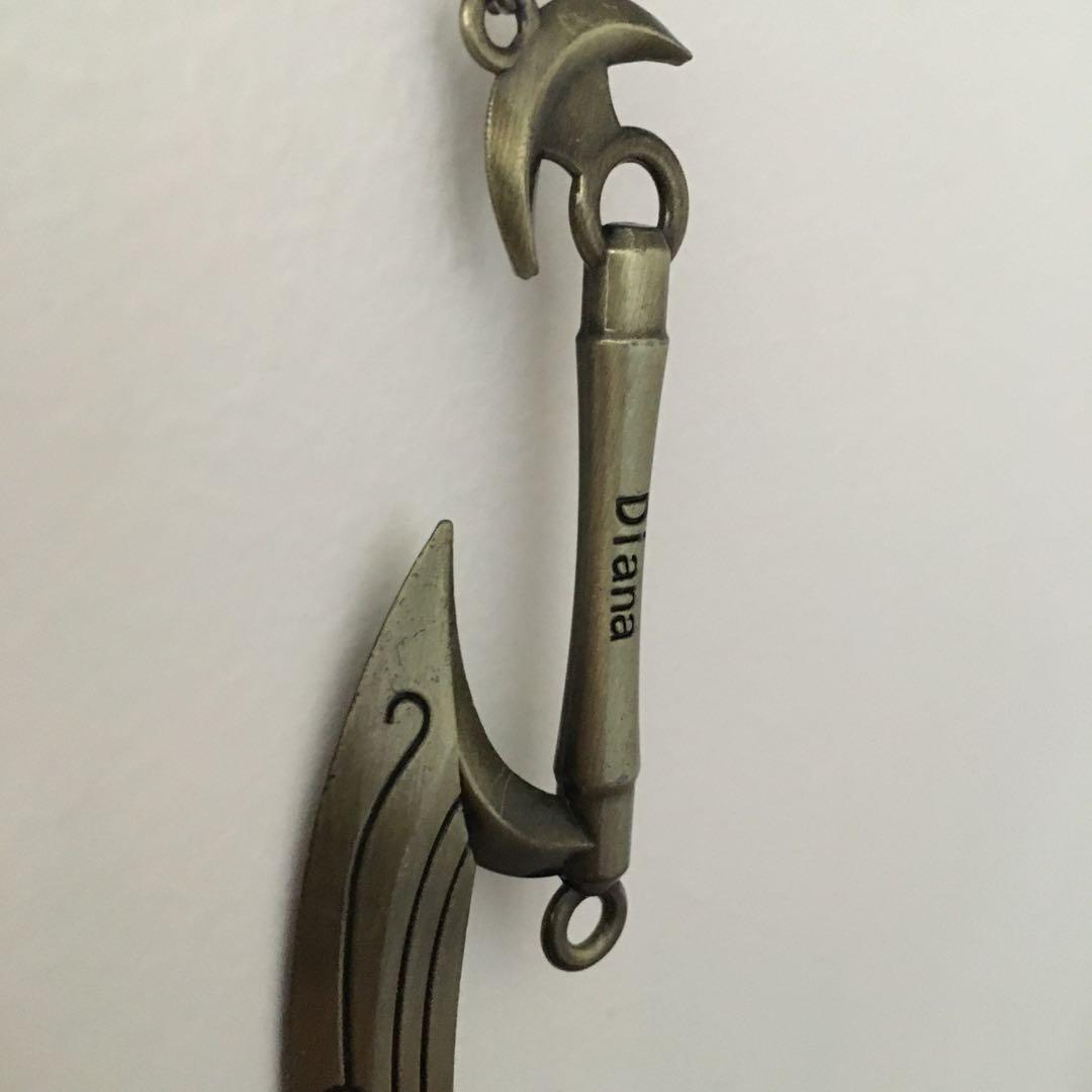 League of Legends merch Diana lunar scythe / sword keychain keyring