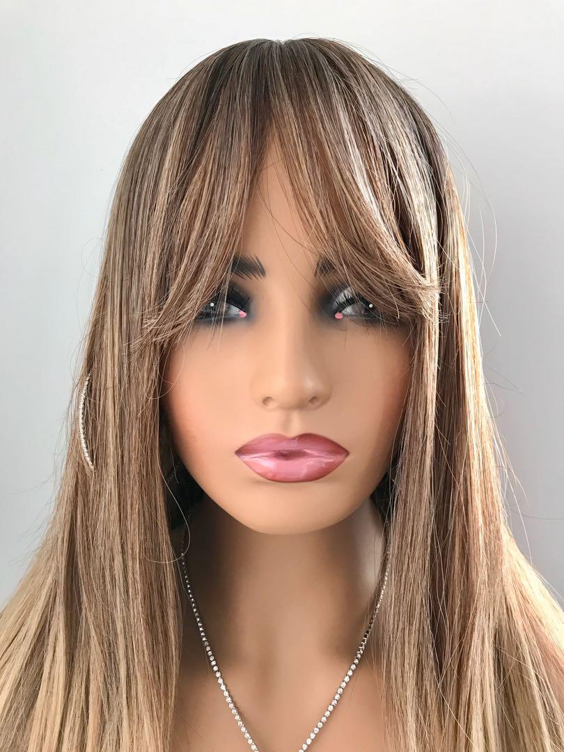 Long Gorgeous Golden Auburn Brown Wig for Everyday