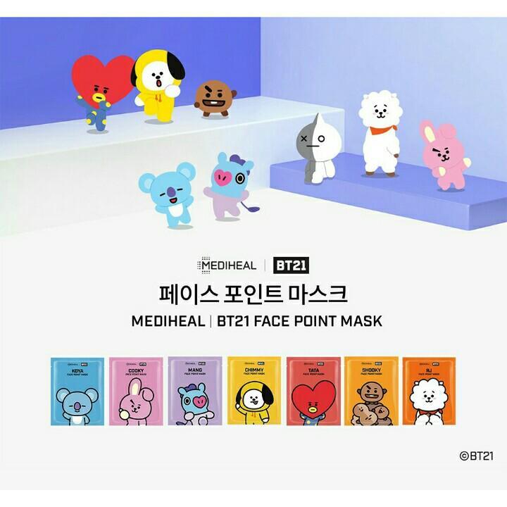 MediHeal X BTS BT21 Official Authentic Korean Facial Point Mask