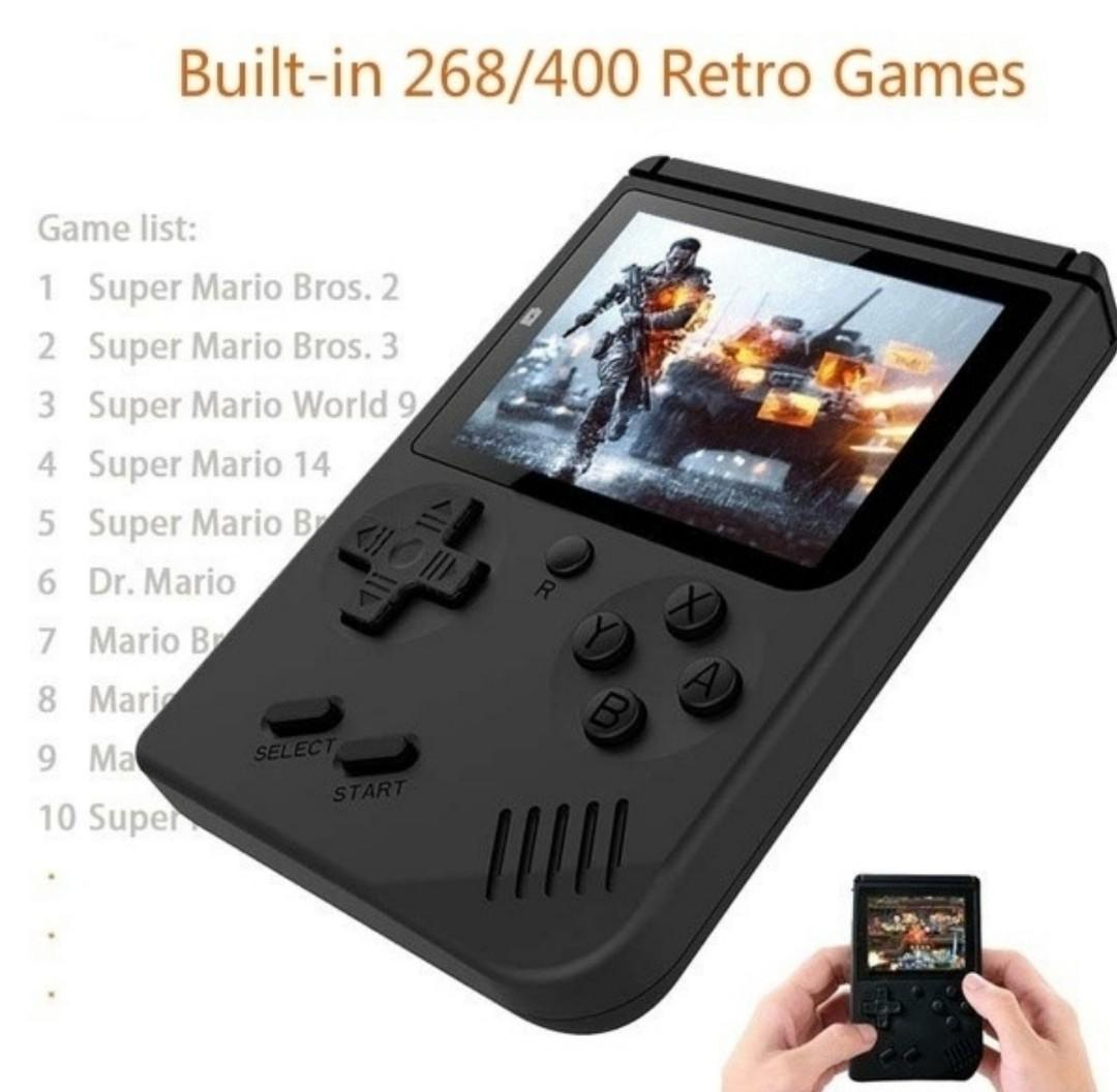 New Pocket Handheld Video Game Console 3.0 inch LCD 8 Bit Mini Portable Game Player Built in 400 Games