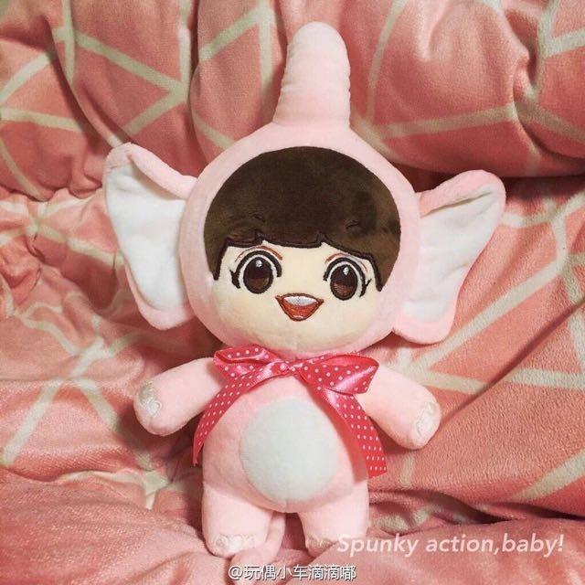 [Ready Stock/Brand New] EXO Spunky Action Baby SAB Elephant Chanyeol Doll