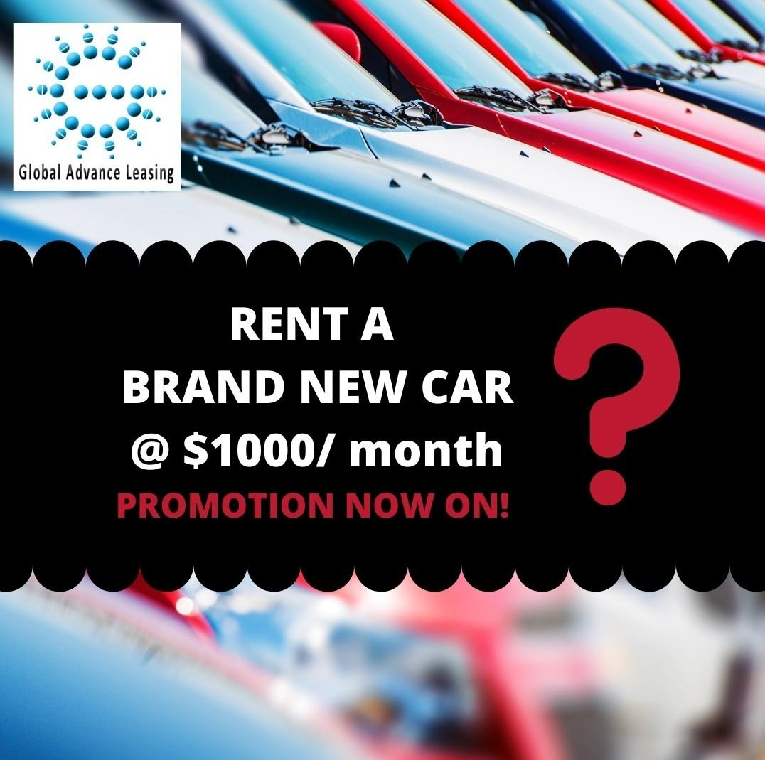 Rent brand new car at $33/day
