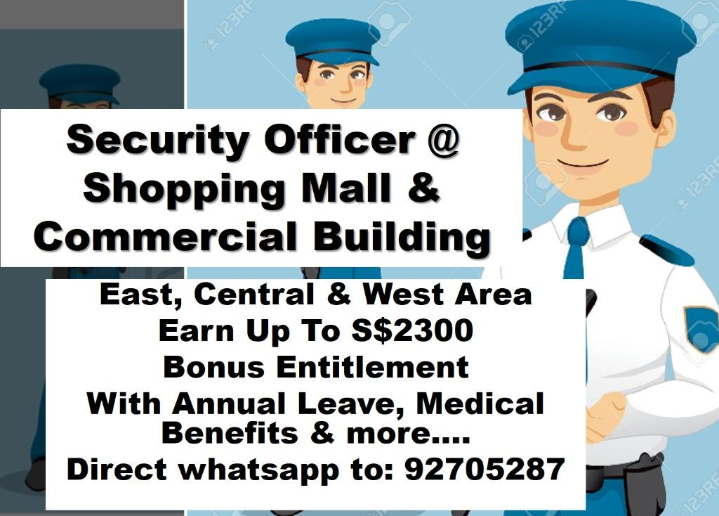 Security Officer @ Shopping Mall & Commercial Building