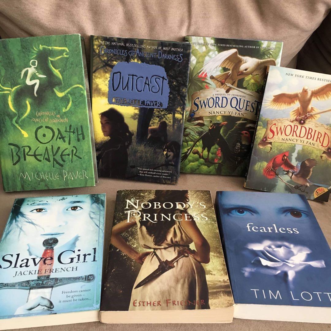 SET of young adult adventure / drama fiction novels