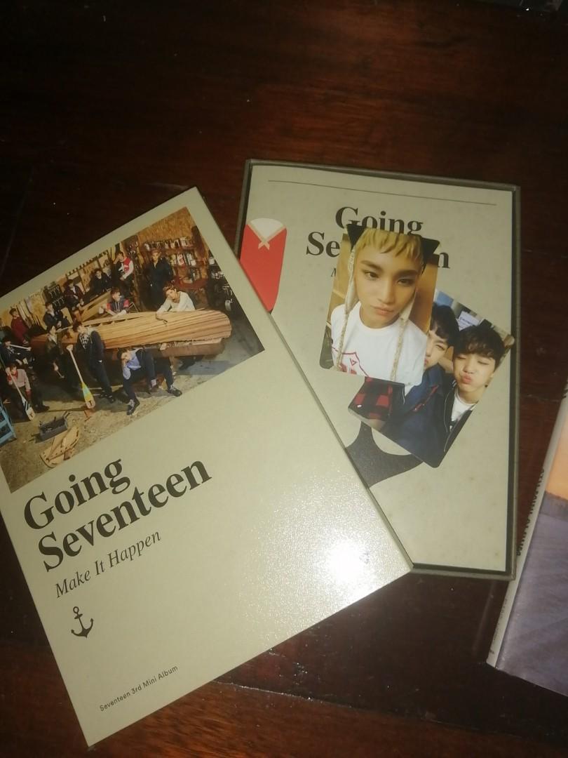 Seventeen Going Seventeen Make It Happen Ver, Make A Wish Ver &Make The Seventeen Ver KPop Original Album With PC