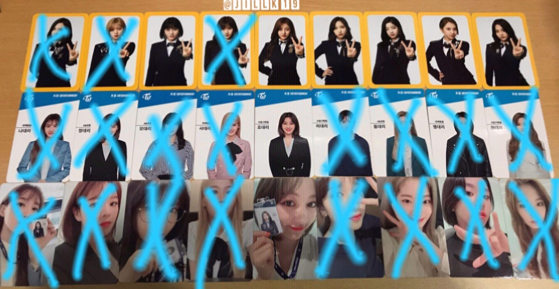 [WTS] TWICE ONCE 2nd & 3rd Generation FanClub Membership Photocards