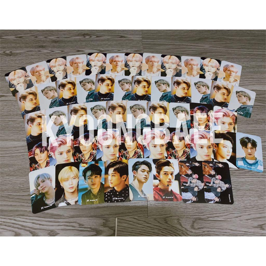 [WTS/READY STOCK] SUPERM OFFICIAL CONCERT TOUR GOODS HANDWRITING PHOTOCARDS