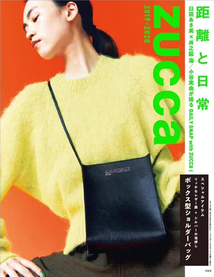 ZUCCA 日單雜誌附錄包 潮牌 PU皮百搭時尚黑色小挎包 單肩斜挎包 手機袋