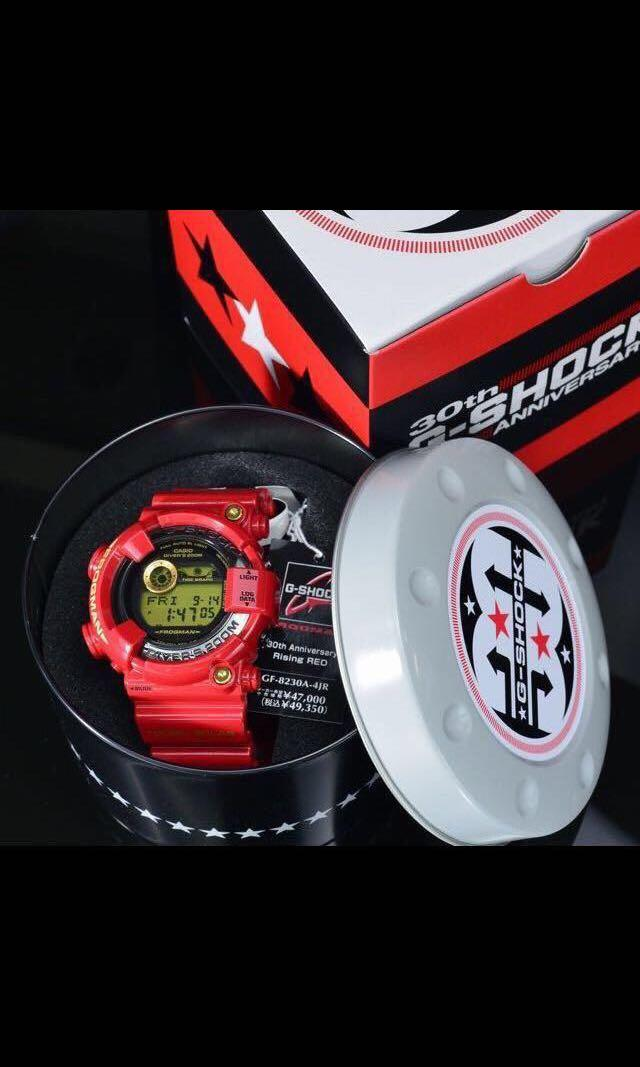 100% Authentic new Casio G-Shock 30th Anniversary Rising Red Frogman GF-8230A-4 Band and Bezel with Studs set limited edition super rare