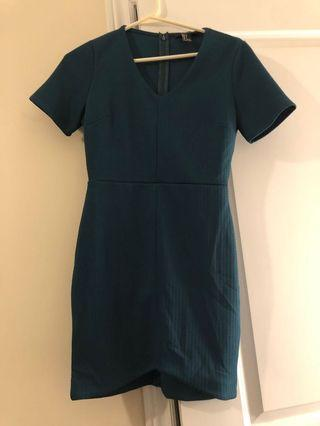EMERALD GREEN DRESS  - S