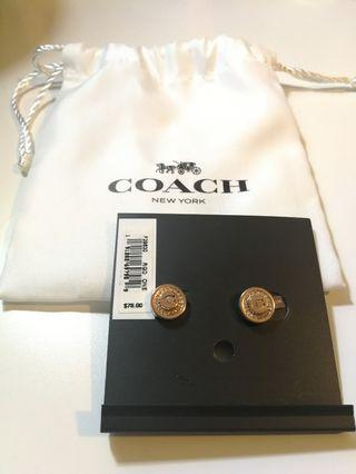 ✨Brand New Coach Stud Earrings