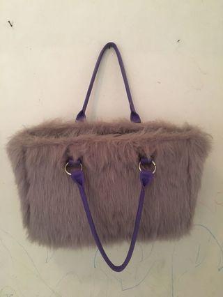 Tas bulu, women handbag, produksi lokal.