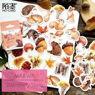 45pcs Autumn In The Forest Sticker Pack (Mo Card-MC087)