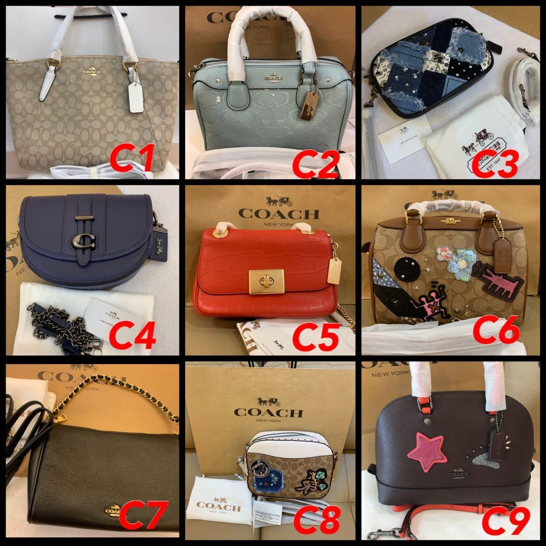 (31/12/19)Ready Stock Authentic Coach Women bag wallet purse wristlet lanyard coin pouch belt bag camera bag woc permanent listing 2512198888