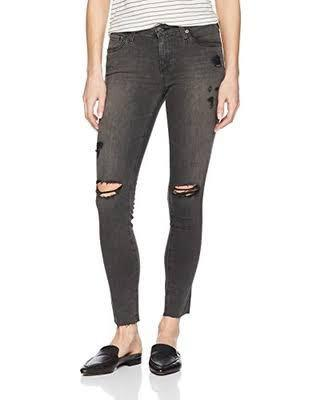 Adriano Goldschmied 29 Super Skinny Legging Black Distressed Jeans