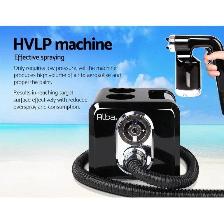 Alba. Spray Tan Machine Sunless HVLP System Solution Spray Tent Kit