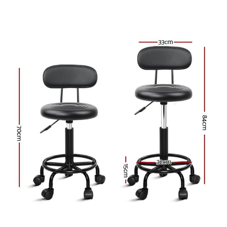 Artiss Salon Stool Swivel Barber Chairs Hairdressing Backrest Hydraulic Height