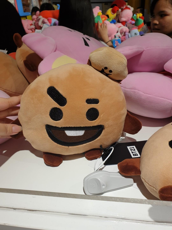 Bt21 cooky tata shooky plush doll flat body cushion