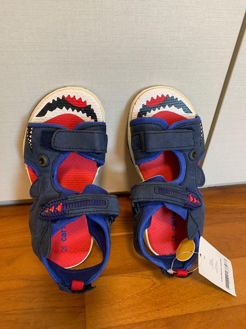 carter's shark sandals