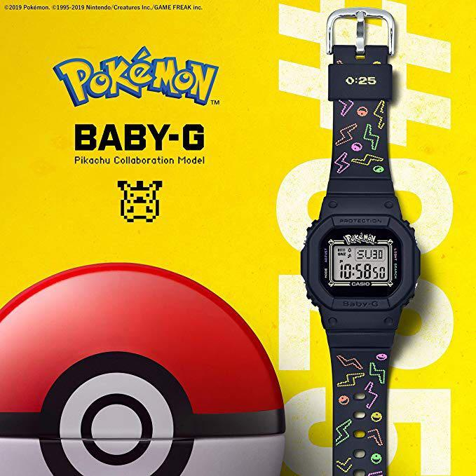NEW🌟POKEMON EDITION : BABYG UNISEX SPORTS WATCH : 100% ORIGINAL AUTHENTIC CASIO BABY-G-SHOCK ( GSHOCK ) : BGD-560PKC-1DR / BGD-560PKC-1 / BGD560PKC-1 / BGD-560-PCK-1DR / POKÉMON / PIKACHU
