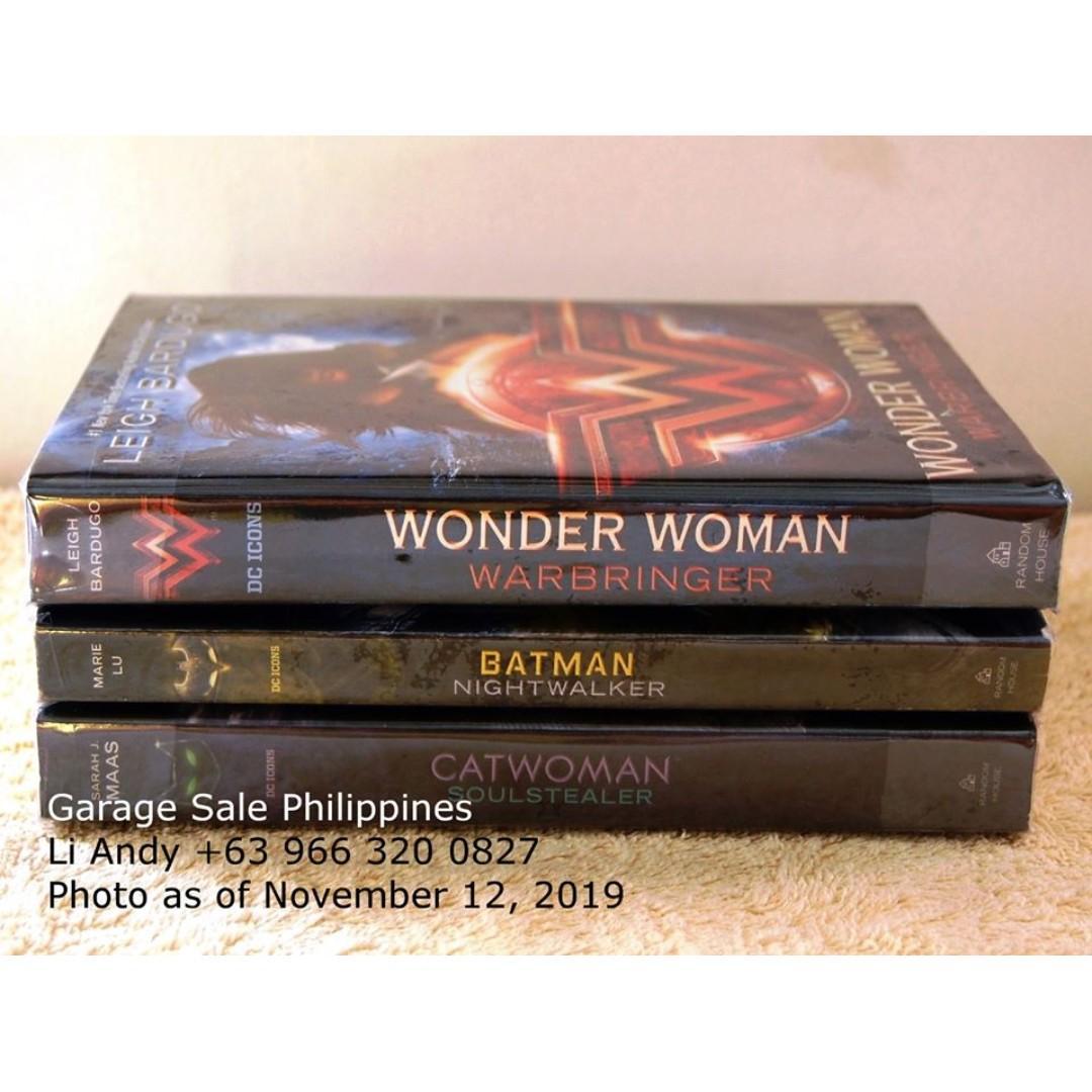 DC Icons book set , Wonderwoman Warbringer, Batman Nighwalker, Catwoman SoulStealer
